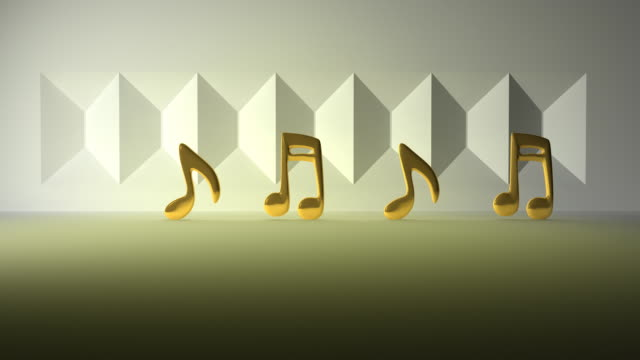 Golden Music Notes Jumping video