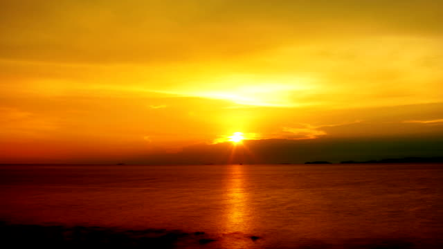 Golden ocean sunrise video