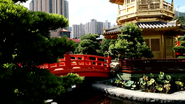Golden Pavilion in Nan Lian Garden video