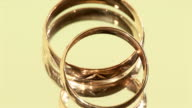 Golden rings rotate video