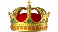 Golden royal crown video