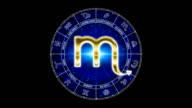 golden scorpio zodiacal symbol video