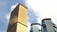 Golden skyscraper video