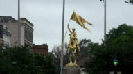 Golden statue of Maid of Orleans Joan D Arc - in New Orleans video
