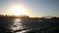 Golden sunset in Sydney, Australia video