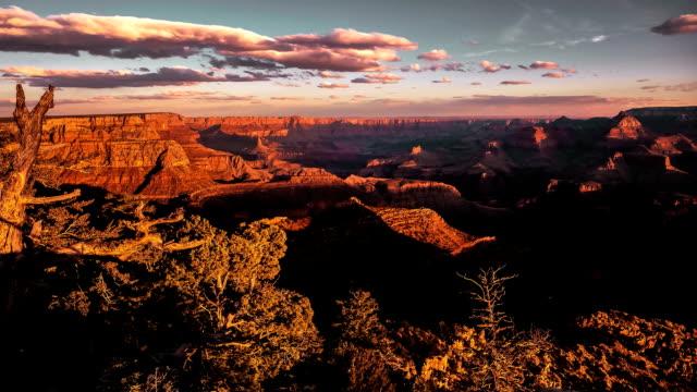 Golden Sunset Sunrise Timelapse over Grand Canyon National Park video