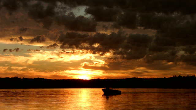 Golden sunset. video