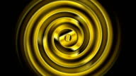 Golden swirl abstract video animation video
