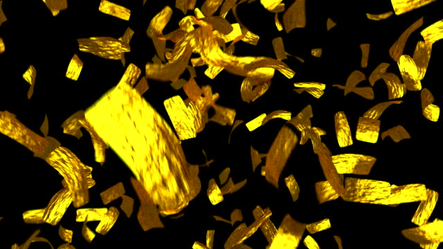 Golden tickets falling gold leaf money win tokens video