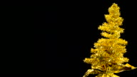 Golden Tinsel Tree video