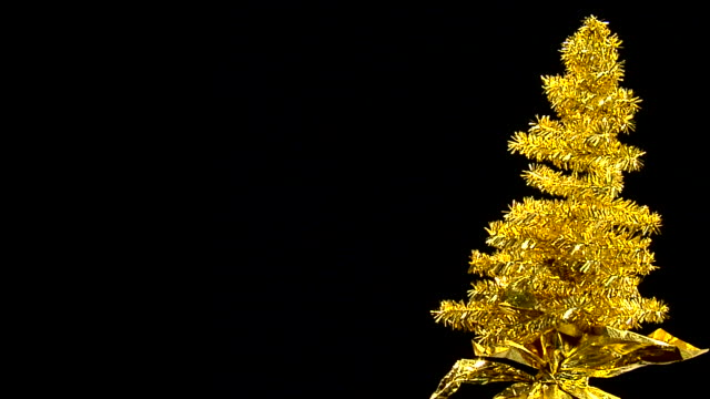 Golden Tinsel Tree video