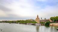Golden Tower in Sevilla Spain video