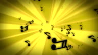 Golden Tunnel of Tunes. Loopable video
