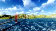 GoldenGate Bridge in a sunny day video