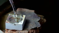 Goldsmith is creating a silver pendant video
