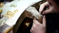 Goldsmith Jeweler rolled silver metal video