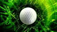 Golf ball background, LOOP video