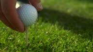 HD 1080P Golf ball being hit video
