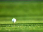 NTSC- Golf ball being teed off video