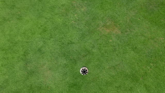 HD MACRO: Golf ball in to the hole video