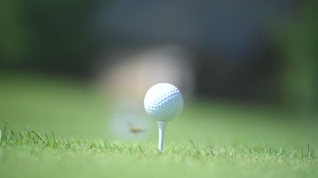 golf ball set to strike video