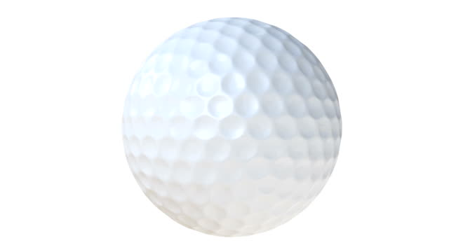 Golf ball spinning with alpha matte - Loopable animation video