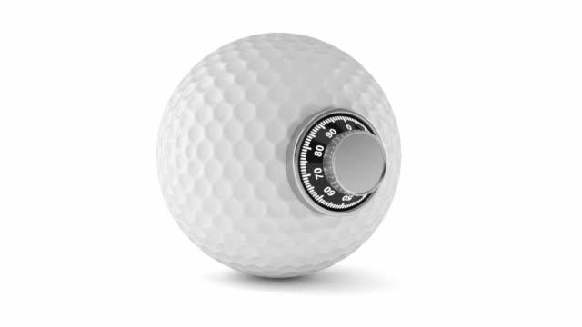 Golf ball with combination lock video