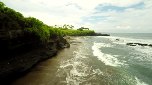 AERIAL Golf Course Along Bali Coast video