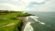 AERIAL Golf Course Along Coast In Bali video
