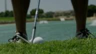 Golf hit, slow motion video