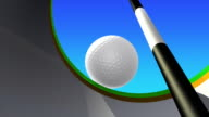 golf putt - inside view video