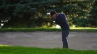 Golf sand trap video