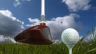 Golf Shot Off a Tee video