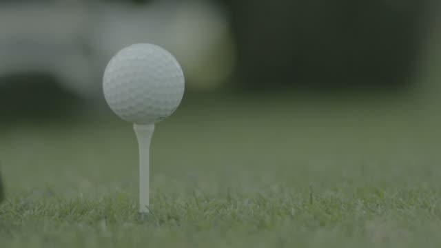 Golf Tee Off shot video