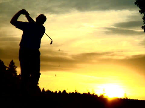 PAL- golfer at sunset video