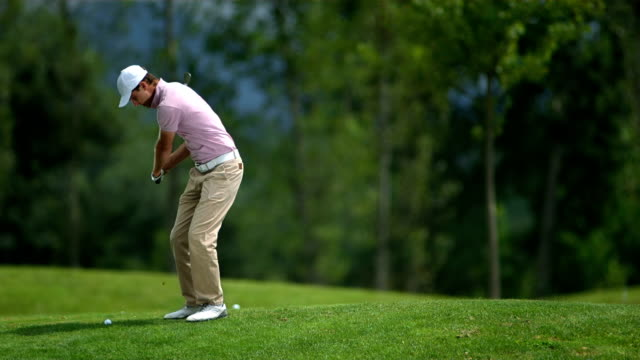 HD SLOW MOTION: Golfer Hits Ball video