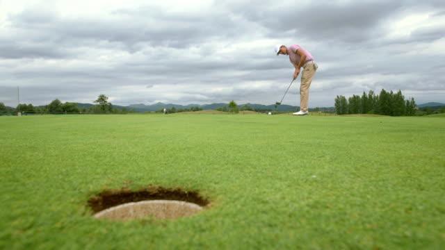 HD: Golfer Practicing The Putt video
