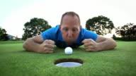 Golfer yells at his ball video
