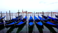 Gondola floating on sea of venice. Italy video