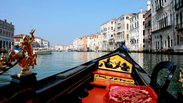 Gondola Ride on the Grand Canal in Venice video