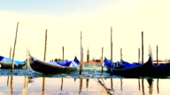 HD SUPER SLOW-MO: Gondolas In The Grand Canal video