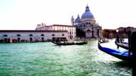 HD SUPER SLOW-MO: Gondolas In The Grand Canal video