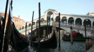 Gondolas in Venetian 'Canal Grande' video