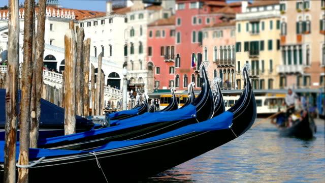 Gondolas in Venice, Italy video