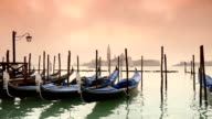 HD Gondolas on the venetian lagoon  - slow motion video