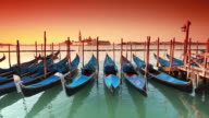 gondolas on the venetian lagoon video