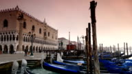 HD 1080 Gondolas on the venetian lagoon video