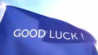 Good Luck Flag High Detail video