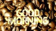 Good Morning Coffee. HD video