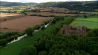 Goodrich Castle  - Aerial View - England, Herefordshire, United Kingdom video